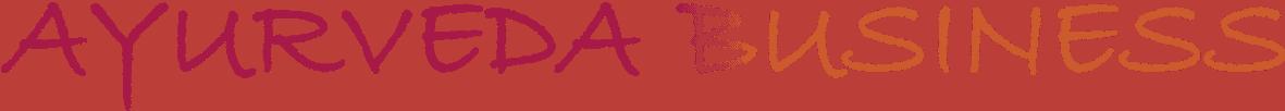 Das Logo für den Bereich Ayurveda Business in den Farben orange und rot.