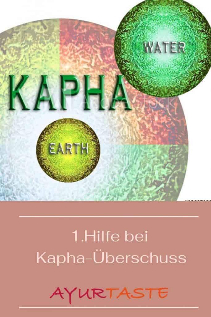 Das Bild zeigt den Schriftzug 1. Hilfe bei Kaoha-Überschuss